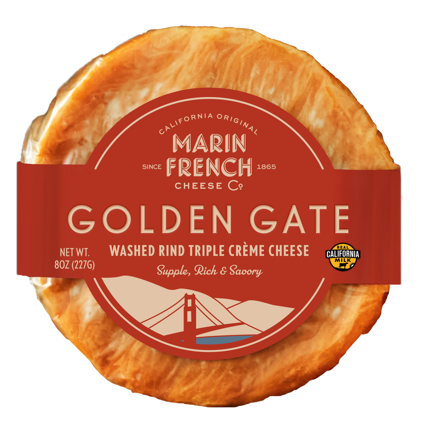 Golden Gate Washed Rind Triple Crème Cheese